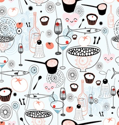 Texture fine food and drink vector