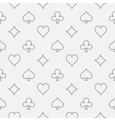 Thin line card suits pattern vector