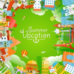 Travel concept Summer vacation vector image