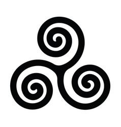 Triskelion or triskele symbol triple spiral vector
