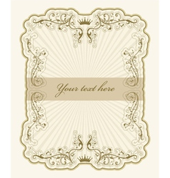 Vintage label with rays vector