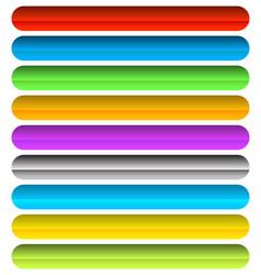 vivid colorful horizontal button banner vector image