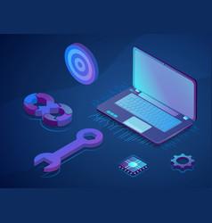 website or webpage development concept vector image