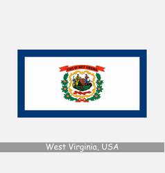 west virginia usa state flag wv usa vector image