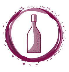 wine bottle inside the bubble vector image