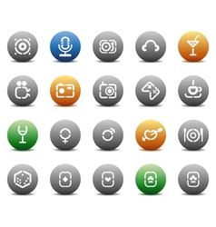 Stencil round buttons for entertaiment vector image