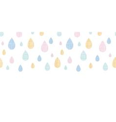 Abstract textile colorful rain drops horizontal vector image vector image
