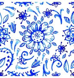 Blue watercolor pattern vector image vector image