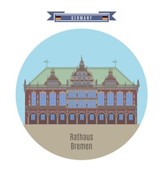 Rathaus Bremen Germany vector image vector image