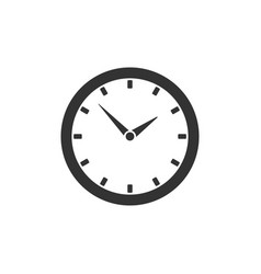 Round clock icon isolated on white background vector