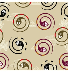 Seamless texture in the form of coiled snakes vector image vector image