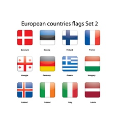 European countries flags set 2 vector image vector image