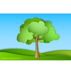 green tree with summer vector image vector image