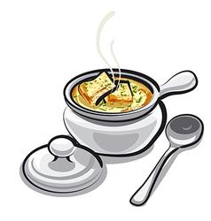 onion soup vector image