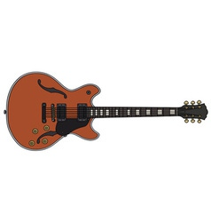 Red electric guitar vector image vector image