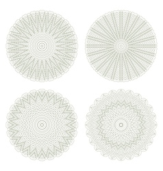 Set of guilloche element vector image vector image