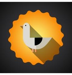 Summer Travel Seagull Bird flat icon vector image vector image
