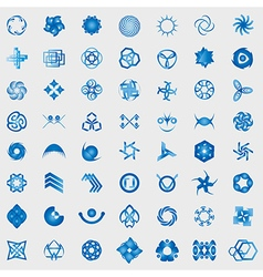 Unusual Icons Set - Isolated On Gray Background vector image vector image