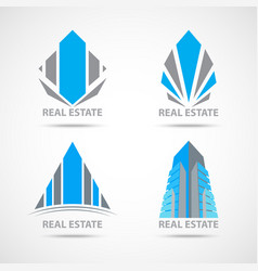 business construction symbol and icons vector image vector image