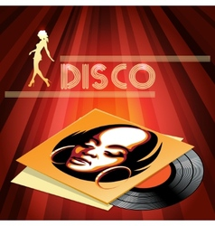 Disco club poster design vector image