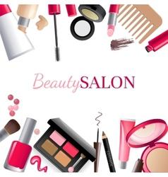 Glamorous make-up background vector image vector image