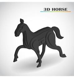 horse 3d vector image