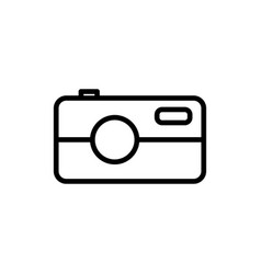 line camera icon on white background vector image vector image