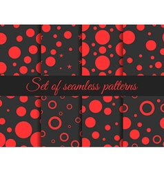 Seamless pattern with circles and dots vector image vector image