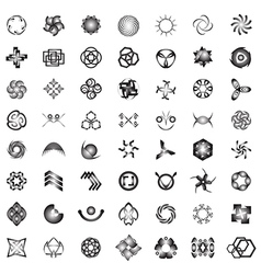Unusual Icons Set - Isolated On white Background vector image
