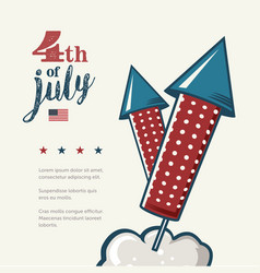 4th of july poster grunge retro metal sign with vector