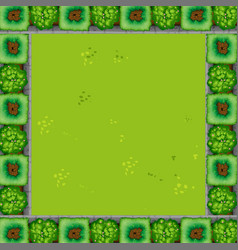 a green garden border vector image