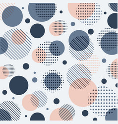 Abstract modern blue pink dots pattern with lines vector