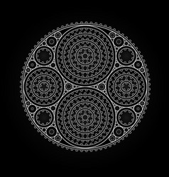 Abstract radial pattern made of gears vector