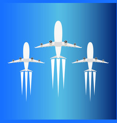airplanes set design isolated vector image