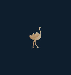 Animal bird ostrich or bird camel logo design vector