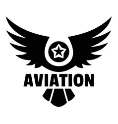 Aviation logo simple style vector