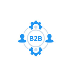 B2b business icon vector