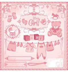 Baby girl childbirth vector