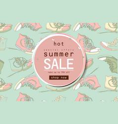 best summer sale sneakers banner vector image