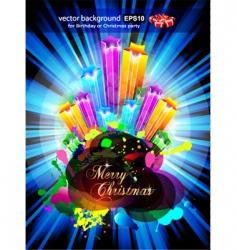 birthday or Christmas gift card vector image