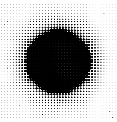 Black circle vector image