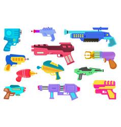 Blaster gun icon set isolated on white background vector