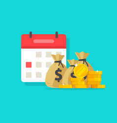 calendar and money flat vector image