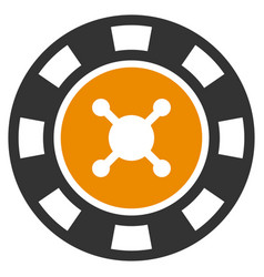 Casino chip flat icon vector