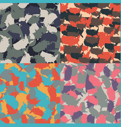 Colorful america urban camouflage set of usa vector