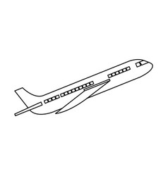 Commercial airplane flying icon vector