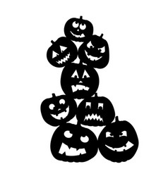 cute happy halloween design template funny vector image