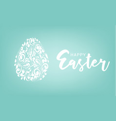 easter egg with blue background happy card vector image