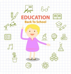 education icons set and infographic vector image