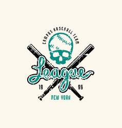 emblem baseball league vector image